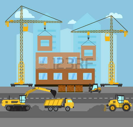 18,899 Building Site Stock Vector Illustration And Royalty Free.
