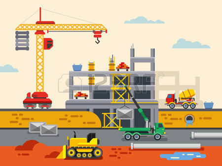 Construction Site Background Images & Stock Pictures. Royalty Free.