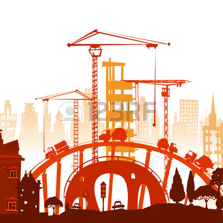 16,898 Building Site Stock Vector Illustration And Royalty Free.
