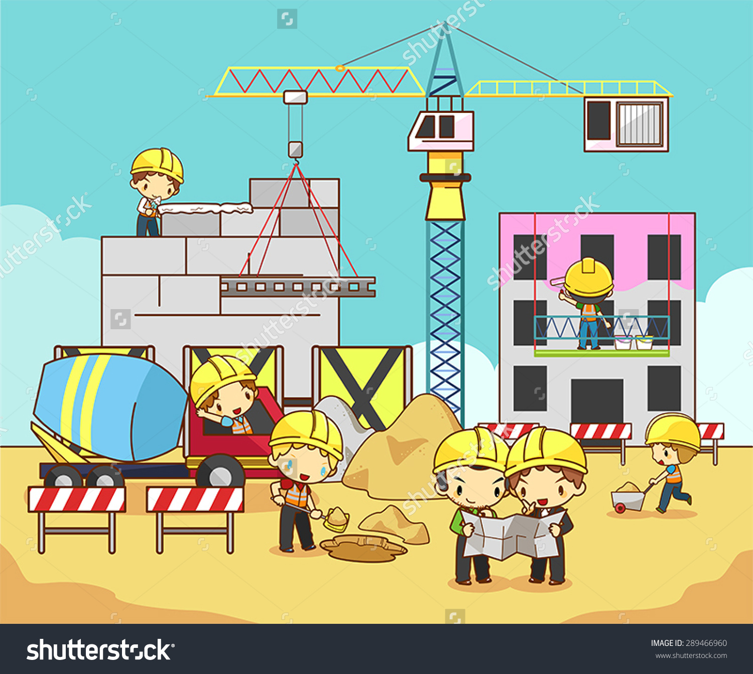 Construction Site Vector Clip Art Free.