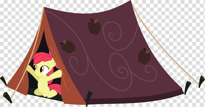 Pony Apple Bloom Tent Illustration, building something.