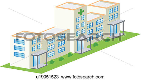 Clipart of building, build, architecture, structure, hospital.