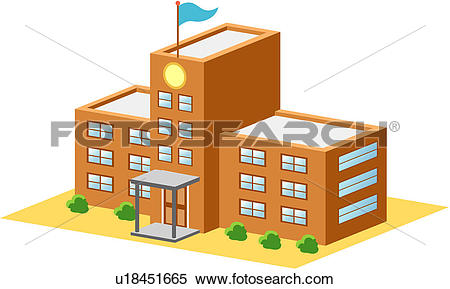 Clipart of schoolhouse, school, building, architecture, structure.