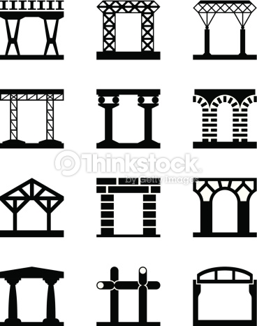Different Types Of Building Structures Vector Art.