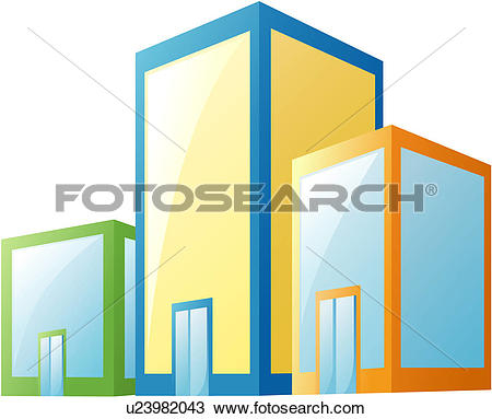 Clipart of city, building, office, office building, structure.