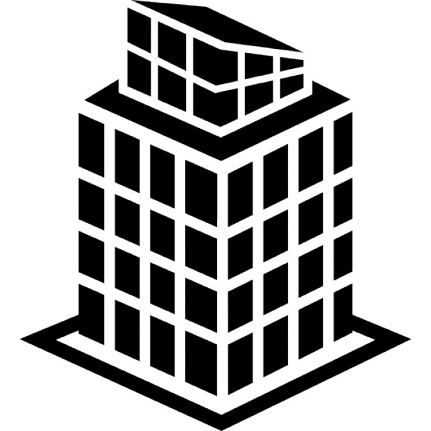Tall building structure Icons.