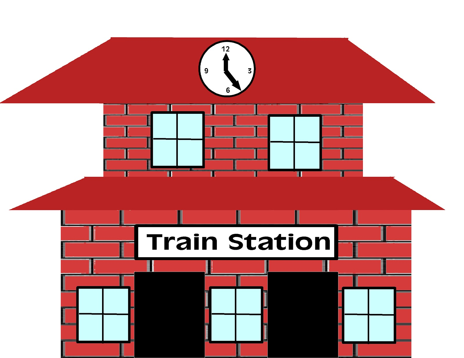 Train Station Clipart.