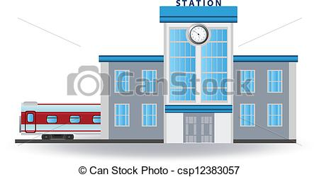 Clipart Vector of Railway station. Vector for you design.