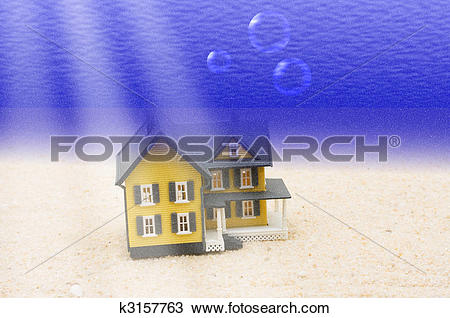 Drawing of House Underwater k3157763.