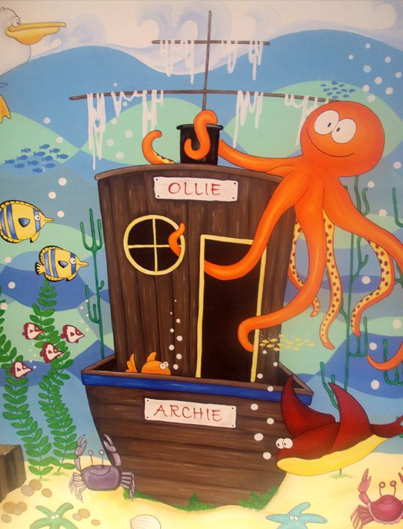 Simply Decorating underwater theme middle section.