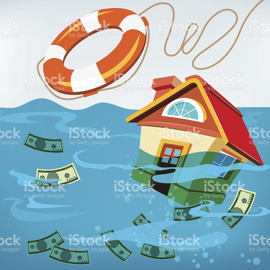 Underwater House Rescue stock vector art 149471666.