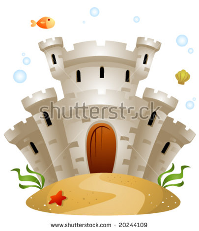 Castle Underwater Vector Stock Photos, Royalty.