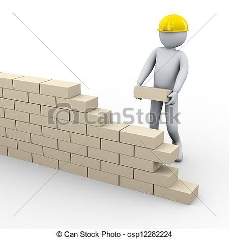 Brick Building Clipart.
