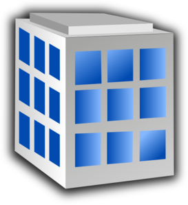 Building with windows clip art at clker vector clip art.