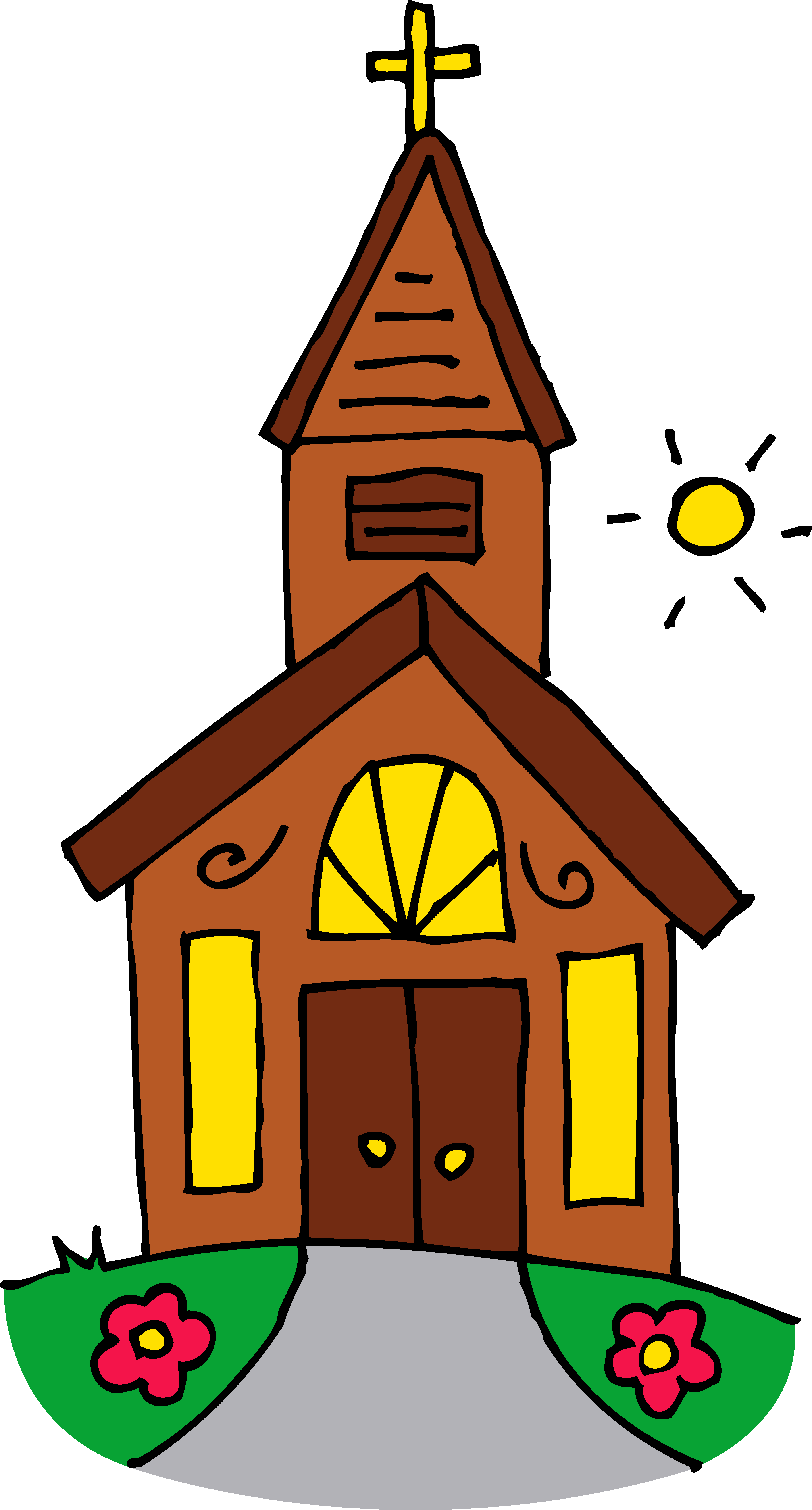Church building work clipart.