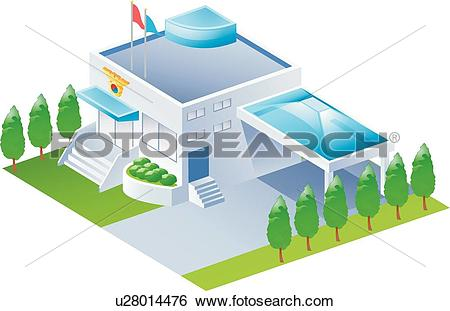 Clip Art of Stairs, icons, Police Station, buildings, Building.