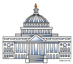 US Capitol Building coloring pages.
