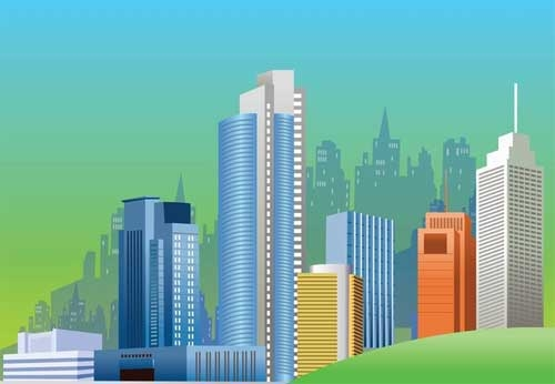 Building Clipart Background.
