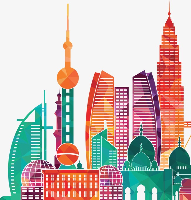 Aesthetic Beautiful City Building Buildings Clipart Satisfying.