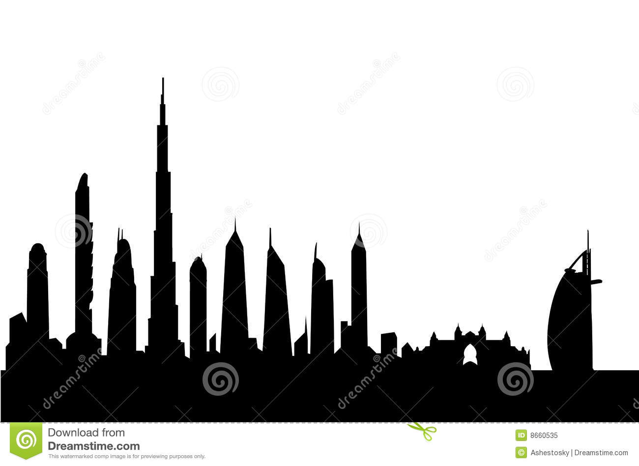 Dubai Buildings Clipart.