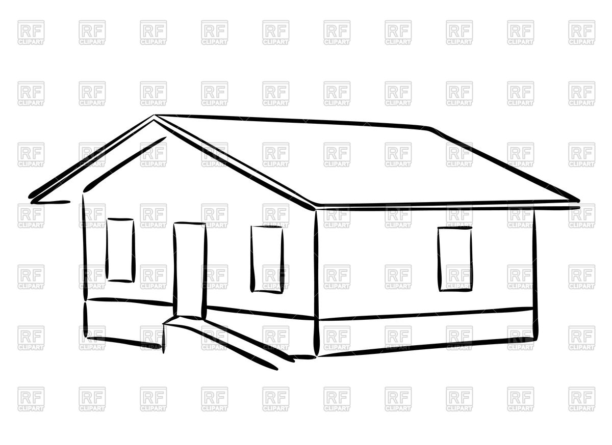 Outline of house Vector Image #75906.