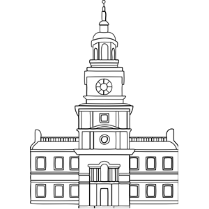 Old building outline clipart.