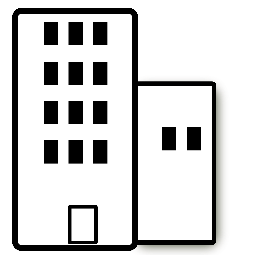 Buildings clipart outline.