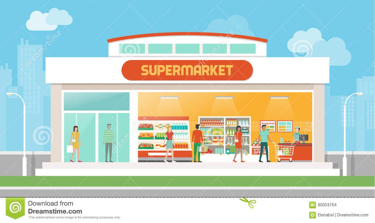 Supermarket Clipart.