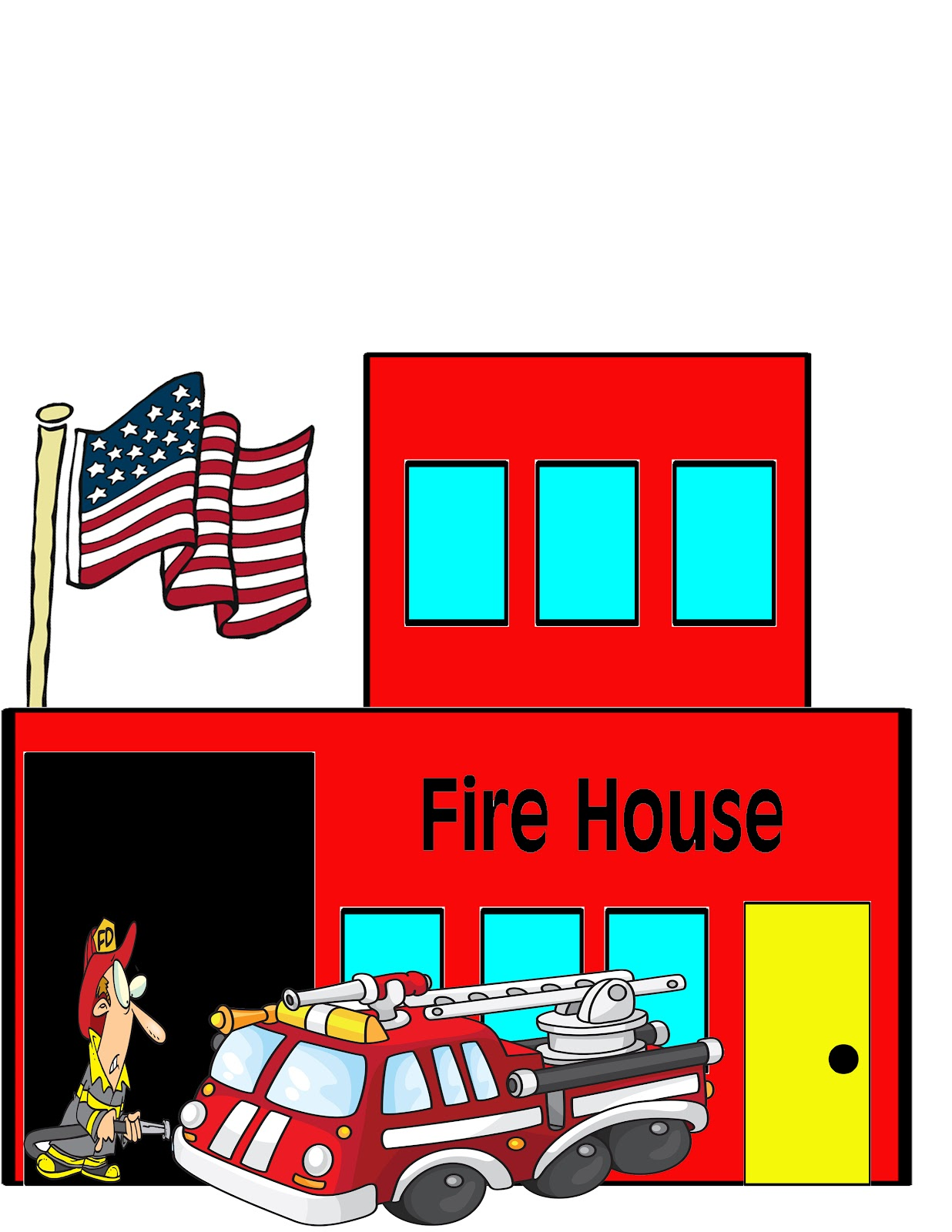 Building on fire clipart.