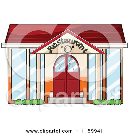 Cartoon of a Hospital Building Facade.