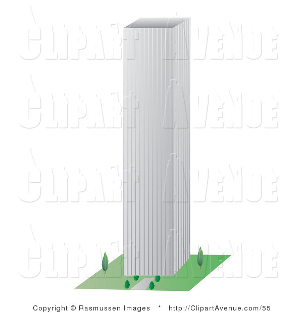 Skyscraper building clipart.