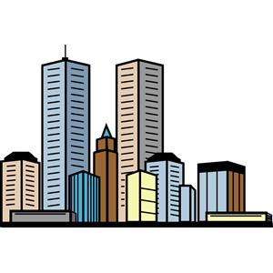 Urban city clipart.
