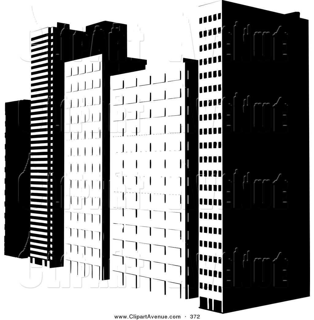 Royalty Free Stock Avenue Designs of City Buildings.