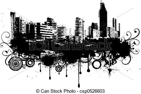 Drawings of Urban grunge.