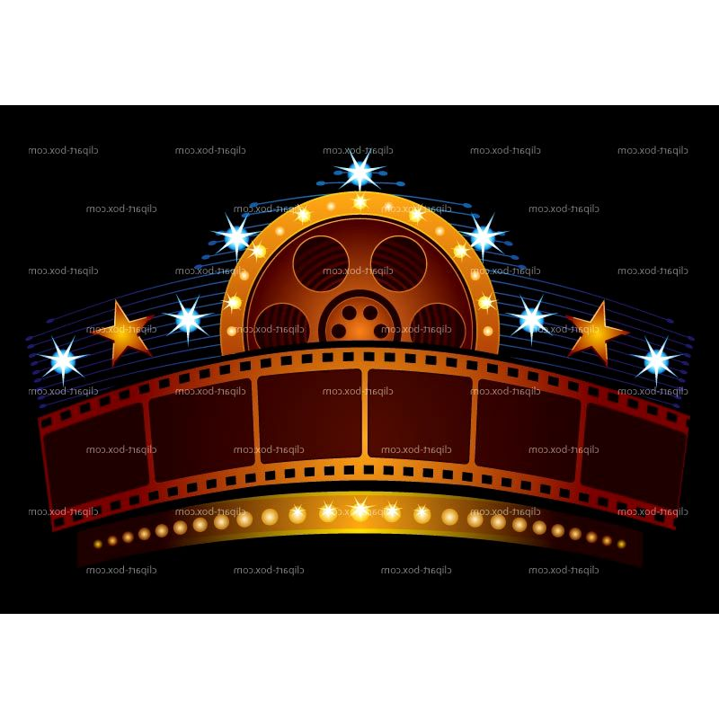 Movie theater building clipart.
