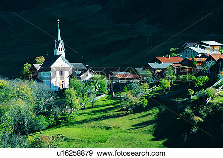 Stock Photograph of Buildings, Tree, Wild field, Valley, Plant.