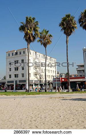 Picture of Buildings on beach, Venice Beach, San Fernando Valley.