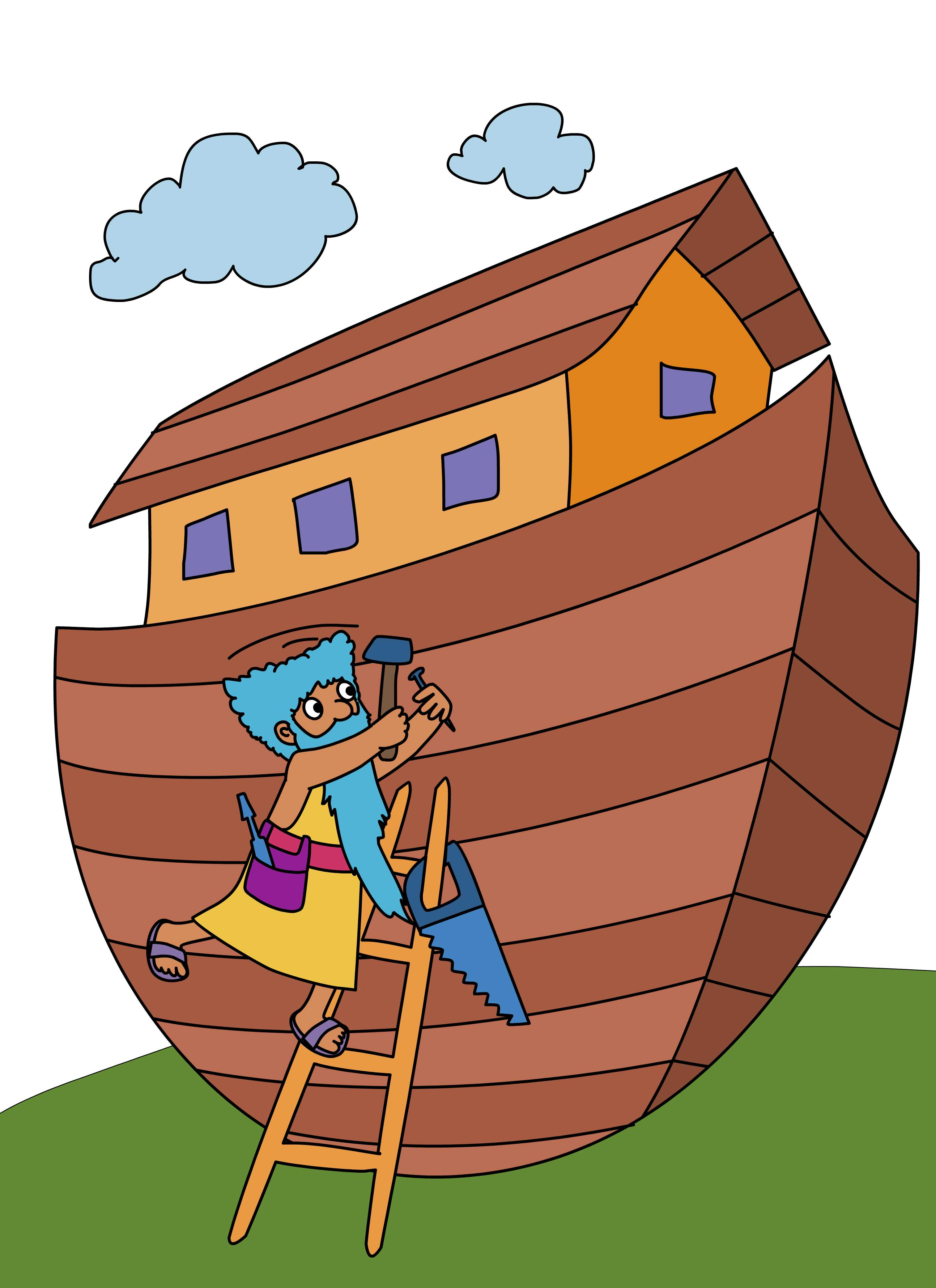 Noah and the ark story clipart.