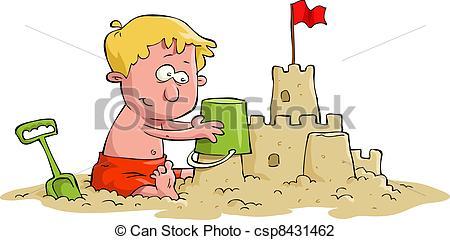 Vector Illustration of Sand castle.