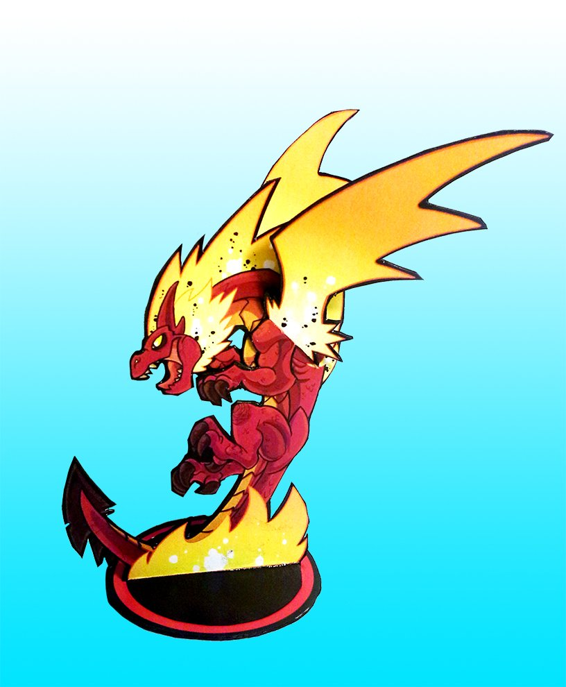 """Trash Mobs on Twitter: """"The red #dragon paper model test."""