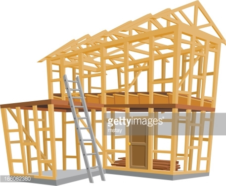 House being built clipart.