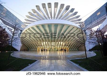 Stock Images of Conference and Exhibition Centre of Oviedo, built.