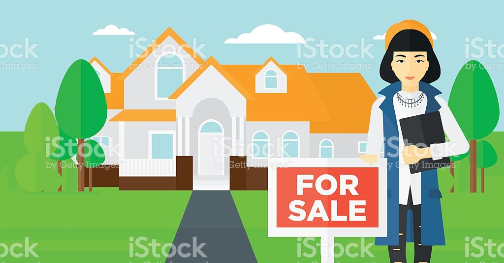 Real Estate Agent Offering House stock vector art 519622598.