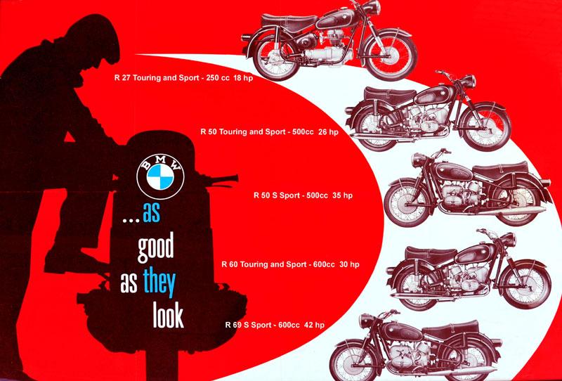 BMW R50/2, R50US, R60/2, R60US, R69S, R69US Motorcycles.
