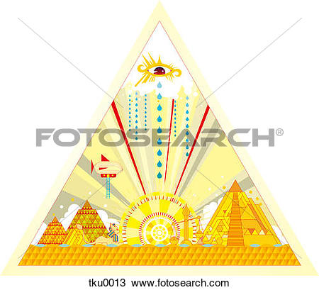 Drawing of Pyramid structure with built structures tku0013.