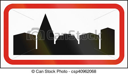Stock Illustration of Hungarian regulatory road sign.