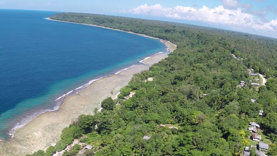 View above HANAHAN Village Coastal area on North Coast of BUKA.