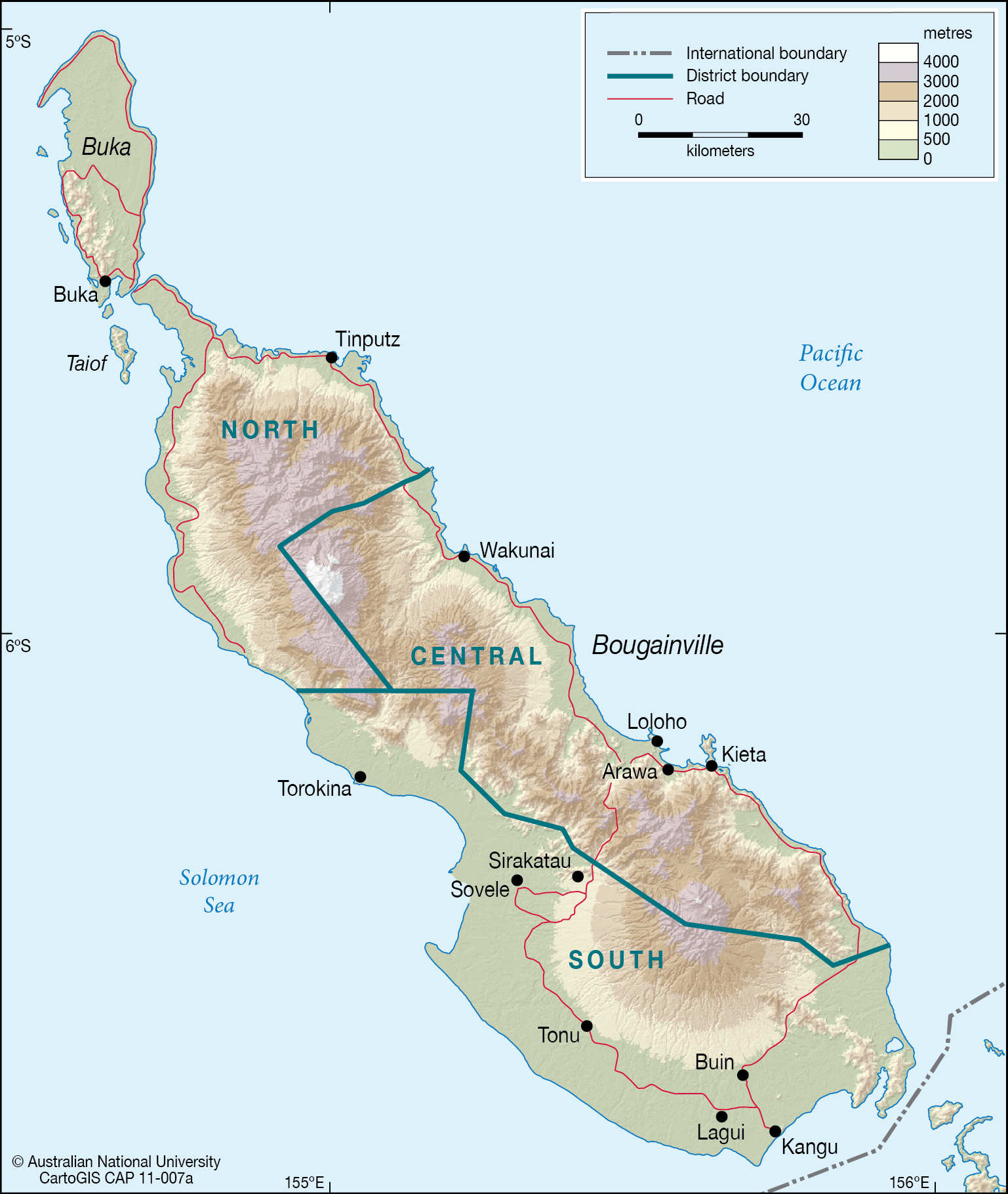 Buka and Bougainville Islands.