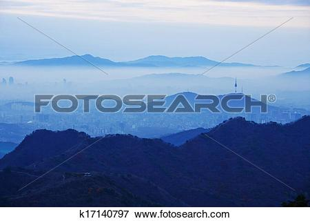 Picture of South Korea beautiful,Bukhansan,downtown Seoul.