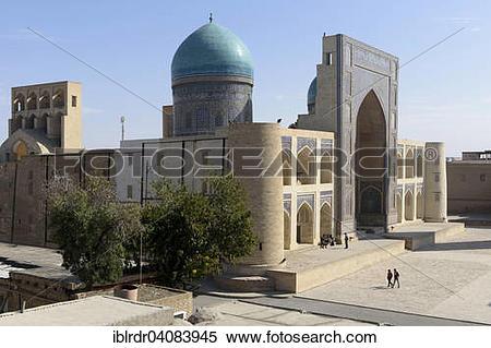 Stock Image of Mir Arab Madrasah, UNESCO World Heritage Site.